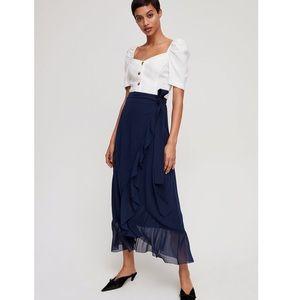 Aritzia Ruffle Chiffon Skirt